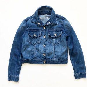 Gap kids  medium wash denim jacket VGUC M(8-9Y)